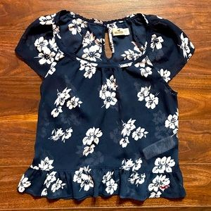 Hollister sheer top with bow detail size xs